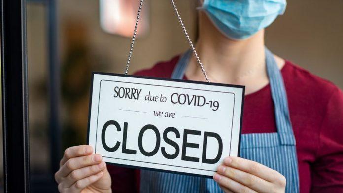 Zamknięty biznes koronawirus
