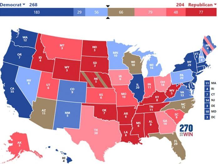 USA głosy elektorskie wybory Donald Trump Joe Biden 2020